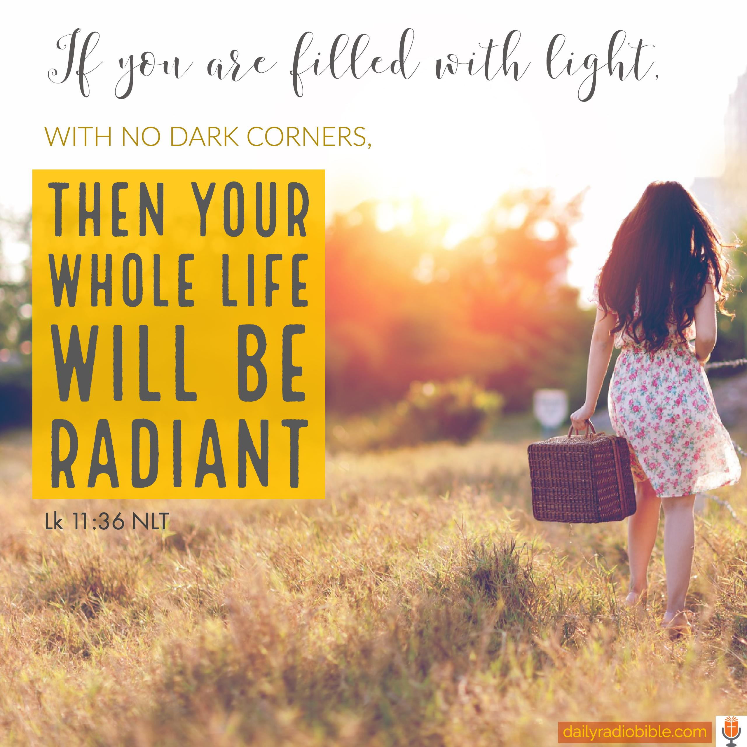 September 28, 2017 Bring on the Floodlights - Daily Radio Bible